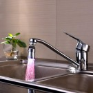 2 X Kitchen 360 Degree Swivel 3 Colours Temperature Sensitive Sink Water Faucet with LED Light Style 2
