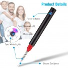 6LEDs Wireless Otoscope Ear Wax Remover WiFi Earwax Removal Tool with 3.5mm Visual Camera and Blue Ray Light