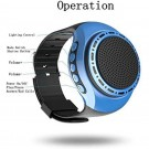 2 X U6 Multi Function Portable Wireless Wrist Bluetooth Speaker Watch with Colourful Lights