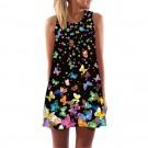 2020 3D Printed Sleeveless Mini Dresses Style 7