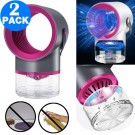 2 X USB Portable Mosquito Killer Lamps with Transparent Container