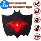 2 X Bat Shaped Outdoor Night Time Solar Powered Animal Repeller