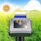3 X Outdoor Solar Powered Ultrasonic Mole Repeller for Lawn Garden Yard