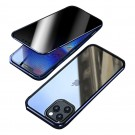 Privacy Magnetic Case Anti Peeping Clear Double Sided Tempered Glass Alloy Bumper Frame for iPhone 12 Series iPhone12mini iPhone12 iPhone 12pro iPhone 12 Pro Max