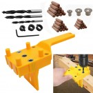 41PCS DIY Woodworking Doweling Hole Drill Guide Tool with Drill Bits