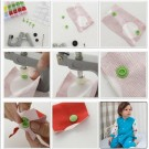 150 Pieces DIY Plastic Snap Button Set with Tools Kit