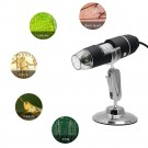3 In 1 1000X HD Wired Microscope Magnifier Endoscope Zoom Camera with 8LEDs Lights and Stand