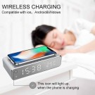 2 In 1 Alarm Clock Wireless Charging Pad for Cell Phone AirPods Pro