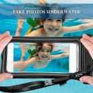 Floatable IPX8 Waterproof Case Cellphone Bag Touchable Phone Pouch with Armband and Audio Jack