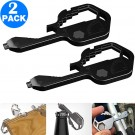 2 Pack Same Colour 24 In 1 Multifunctional Key Tool Screwdriver Bottle Opener Measuring Wrench Box Cutter Bit Driver
