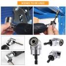 8 Pieces Flexible Drill Extension Hex Shank Drill Nut Driver Bit Set Bendable Drill Bit Extension Kit Socket Adapter Set Screwdriver Bit Set Tools