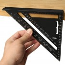7Inch 12Inch Alloy Triangle Square Ruler Guide High Precision Layout Easy Read Engineer Woodworker Measuring Tool Metric System