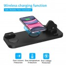 6 In 1 Fast Wireless Charging Station Wireless Charger Charging Dock Phone Stand for Apple iPhone iWatch Air Pods
