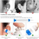 4 Pack Spiral Ear Wax Remover Tool with Base Earwax Cleaner Kit with 16 Replacement Heads