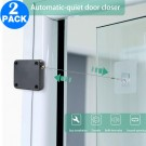 2 Pack Self Adhesive Self Closing Automatic Door Closer with with 1M Strong Tensile Force Steel Drawstring Wire