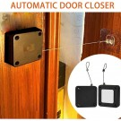 6 Pack Self Adhesive Self Closing Automatic Door Closer with with 1M Strong Tensile Force Steel Drawstring Wire