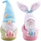2 X Home Easter Decorations Ornaments Gnome Faceless Doll for Kids