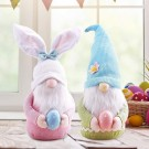 2 X Same Color Home Easter Decorations Ornaments Gnome Faceless Doll for Kids