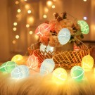 2 Pack 2 Modes 20LED Easter Decoration Lights Battery Operated String Lights Home Fairy Lights Festival Party Lamps Egg and Bunny