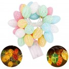 2 Modes 20LED Easter Decoration Lights Battery Operated Egg String Lights Home Fairy Lights Festival Party Lamps