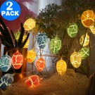 2 Pack 2 Modes 20LED Easter Decoration Lights Battery Operated Egg String Lights Home Fairy Lights Festival Party Lamps