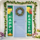 1 Pair of Happy Easter Banner Easter Porch Sign Door Decoration Easter Decoration