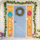 2 Pairs of Happy Easter Banner Easter Porch Sign Door Decoration Easter Decoration