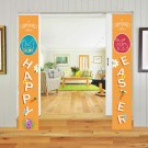 2 Pairs of Happy Easter Banner Easter Porch Sign Door Decoration Easter Decoration Style 1 Style 5