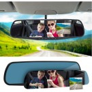Full HD 1080P Car Rearview Anti Glare Blue Mirror Dash Cam Dual Lens Car Camera NOT Touchscreen with Night Vision Loop Recording  WITHOUT SD CARD