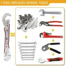 Self Adjustable Wrench Multi Purpose Functional Spanner Universal 9mm-45mm