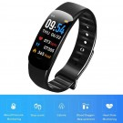 C1Plus Smart Bracelet Waterproof Fitness Tracker Heart Rate Blood Pressure Monitor Smart Watch Black