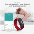 C1Plus Smart Bracelet Waterproof Fitness Tracker Heart Rate Blood Pressure Monitor Smart Watch Red