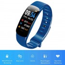C1Plus Smart Bracelet Waterproof Fitness Tracker Heart Rate Blood Pressure Monitor Smart Watch Blue