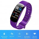 C1Plus Smart Bracelet Waterproof Fitness Tracker Heart Rate Blood Pressure Monitor Smart Watch Purple