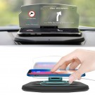Auto Car HUD Head Up Display GPS Navigation Projector Phone Holder Wireless Charger for Qi Smart Phone