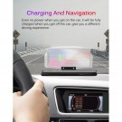 2 X Auto Car HUD Head Up Display GPS Navigation Projector Phone Holder Wireless Charger for Qi Smart Phone