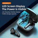 LB-8 Wireless Earbuds Bluetooth 5.0 Headphones Hi-Fi Stereo Touch Control TWS Headset with LED Power Display Charging Case Black