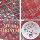 Four Sets of Placemats Cup Mug Wine Glass Pads Christmas Table Mats Xmas Decor