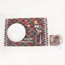 Style 1 Set of 12Pcs Placemats Cup Mug Wine Glass Pads Christmas Table Mats Xmas Decor