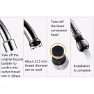 2 Pack of 360 Degrees Swivelable Water-Saving Faucet Adapter
