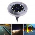 4Pack Super Bright 8-LED Solar Powered Waterproof Sensor Inground Lights