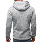 Mens Full Zip Hooded Fleece Long Sleeve Two Front Pockets Sports Sweatshirt