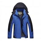 Outdoor Waterproof Winterproof Hooded Jacket for Men Blue