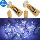 2 Pack Funky Bottle Stopper String Lights White