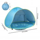 Portable Shade Pool UV Protection Baby Beach Tent Pink