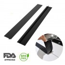 2 Pack Silicone Kitchen Stove Counter Gap Cover Black