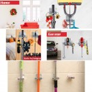 4 Pack Drill Free Mop Broom Wall Holder with Hooks 4 Colours