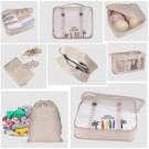 8PCS Travel Luggage Packing Cubes Organizers Set Navy