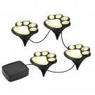 2 Pack Solar Powered Paw Print Design Garden Lights