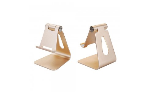 Adjustable Aluminum Alloy Pad/Phone Desktop Stands Gold